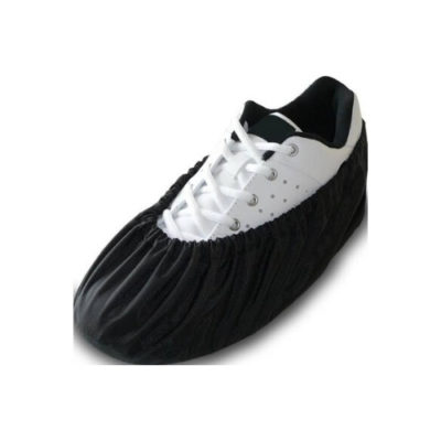 Reusable black fabric shoe covers